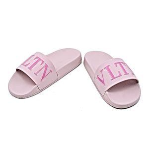 Valentino Logo Slide Sandals